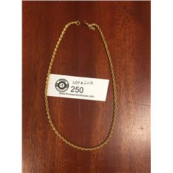 """A Good Quality Monnet Gold Plated Necklace 16""""  Long"""