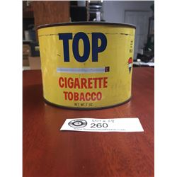 Vintage Top Cigarette Tobacco Tin. Net Weight 7oz
