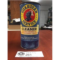 Vintage Guardian Service Cleaner Tin. Newt Weight 8 Ounces Price 35 Cents