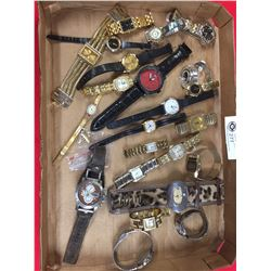 A Nice Tray lot of Watches. Mens' and Ladies. Most need Batteries