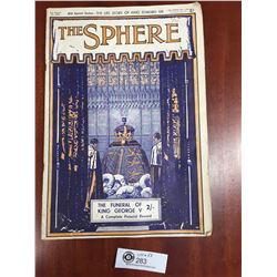 "The Sphere Magazine Feb.1 1936 "" The Funeral of King George"""