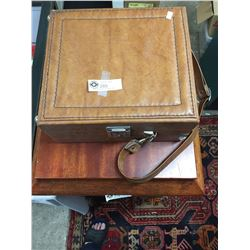 Vintage Leather Alcohol Travel Case. With Some Accessories. Made by US Luggage.