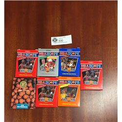 7 Packs of NBA Unopened Trading Cards 1990
