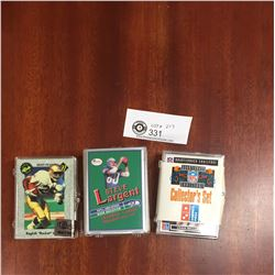 3 Packs of NFL Trading Cards Steve Largent NFL Greatest Wide Receiver, Classic Draft Picks, Domino's