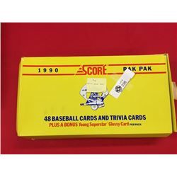 16 Packages of 1990 Score Baseball Trivia Cards Plus 8 Unopened Packs of Bellingham Mariners Cards 1