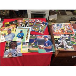 15 Baseball Magazines Including 1990 Baseball Calendar and Sports Illustrated