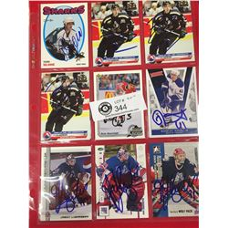 27 Personally Autographed Hockey Cards