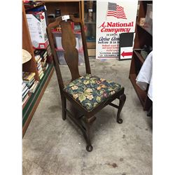 A Queen Anne 1920's Walnut Chair. Very Sturdy. Well Made