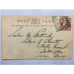 1893 London Original Postmarked Handwritten and Typed Post Card