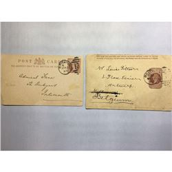 1800s London Original Postmarked Handwritten Envelope with Post Card