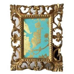 Vintage Gold Ornate Florentine 4� x 6� Picture Frame, Made in Italy, Easel Frame, Hollywood Rege