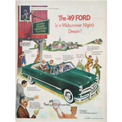1949 Ford Car Magazine Advertisement