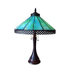 """Tiffany-style 2 Light Table Lamp 16"""" Shade"""