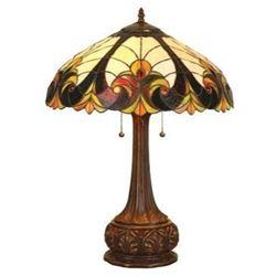 "Victorian 2 Light Table Lamp 18"" Shade"