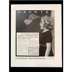 1940 Compton Advertising Black & White Magazine Ad