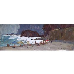 21st Century Signed Ukranian Impressionism, Seascape Oil Painting