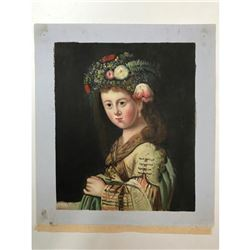 School of Bianco, 20thc Oil on Canvas Painting, Rembrandt Study