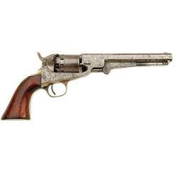 Civil War Wolf Hammer Engraved Manhattan, NY Black Powder Revolver.