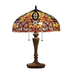 "Tiffany-style Victorian 2 Light Table Lamp 18"" Shade"