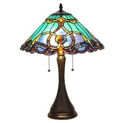 "Tiffany-style 2 Light Victorian Table Lamp 16"" Shade"