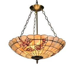 "Mosaic 3 Light Inverted Ceiling Pendant 20"" Shade"
