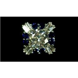 3.01 Ct. Blue & White Sapphire Solitarie Ring