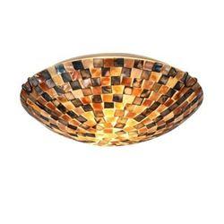 "Mosaic 2 Light Flushmount Ceiling Fixture 12"" Shade"