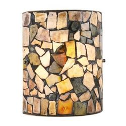 """Mosaic 1 Light Indoor Wall Sconce 8"""" Wide"""