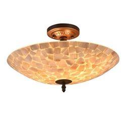 "Mosaic 2 Light Semi-flush Ceiling Fixture 16"" Shade"