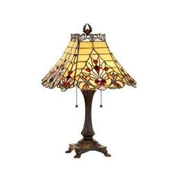 "Tiffany-style Victorian 2 Light Table Lamp 16"" Shade"