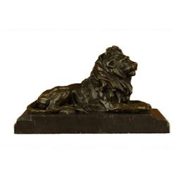 Large Barye African Lioness Lion Wild Life Animal Bronze Sculpture Statue Decor