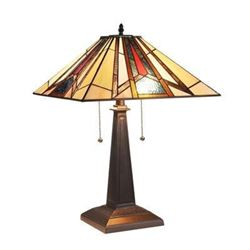 "Mission 2 Light Blackish Bronze Table Lamp 16"" Wide"