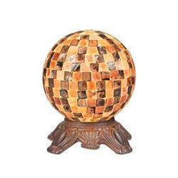 "Mosaic 1 Light Dark Bronze Accent Lamp 8"" Wide"