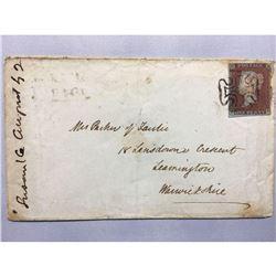 1842 Original Handwritten Iron Gall Letter to Mrs. Parker