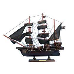 "Wooden Black Bart's Royal Fortune Model Pirate Ship 20"""