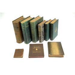 9v Gilt Bindings Decorative Antique Estate Books Literature Poetry Adventure Rubaiyat Of Omar Khayya