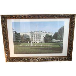 Signed Cromartie, The White House Framed Print