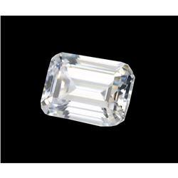 6ct Emerald Step-Cut BIANCO Diamond 10x8mm