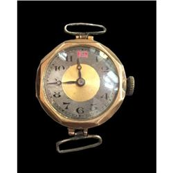 9ct Gold 1920's Art Deco Octagonal Wristwatch