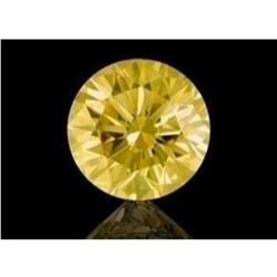 11ct Round Brilliant Cut Canary BIANCO Diamond