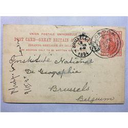 1894 London Original Postmarked Handwritten Post Card