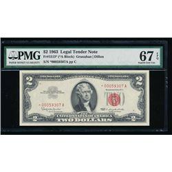 1963 $2 Legal Tender Star Note PMG 67EPQ