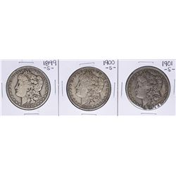 Lot of 1899-S to 1901-S $1 Morgan Silver Dollar Coins