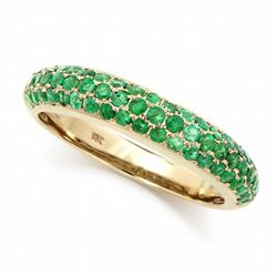 14KT Yellow Gold 0.80ctw Emerald Ring