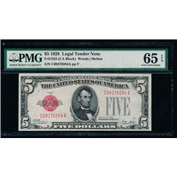 1928 $5 Legal Tender Note PMG 65EPQ