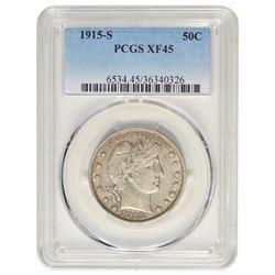 1915-S Barber Half Dollar Coin PCGS XF45