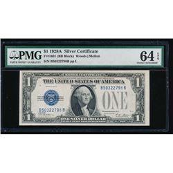 1928A $1 Silver Certificate PMG 64EPQ