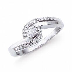 14KT White Gold 0.27ctw Diamond Ring