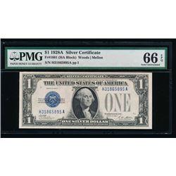 1928A $1 Silver Certificate PMG 66EPQ