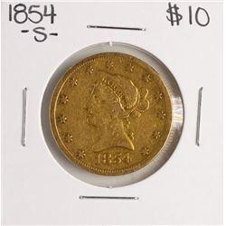 1854-S $10 Liberty Head Eagle Gold Coin
